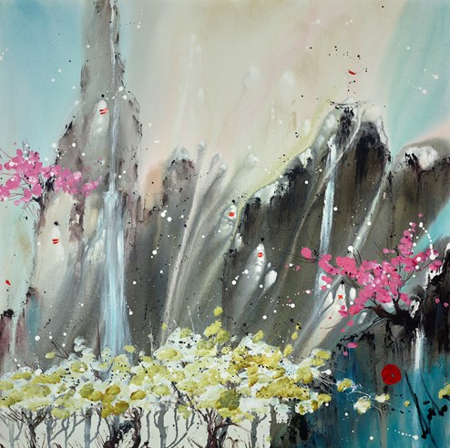 Pillar of Strength by Danielle O'Connor Akiyama - Original Painting on Box Canvas